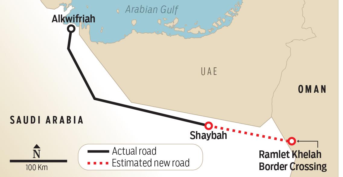 أعجوبة هندسية أول طريق يربط ع مان بالسعودية مباشرة عبر الربع الخالي أريبيان بزنس