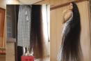 شاهدي فيديو لمراهقة تتعامل مع شعرها الذي يزيد عن طولها