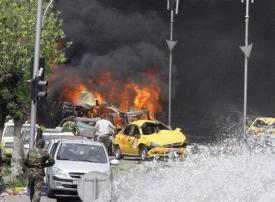 بالصور: انفجار في منطقة السبع بحرات وسط العاصمة السورية دمشق