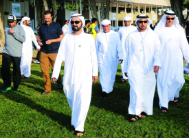 محمد بن راشد يوضح أسباب انسحاب اسطبلات ام . آر . ام  و  ام 7  من سباقات الوثبة