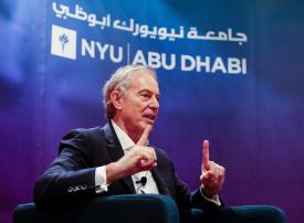 توني بلير يتحدث لطلاب جامعة نيويورك أبوظبي