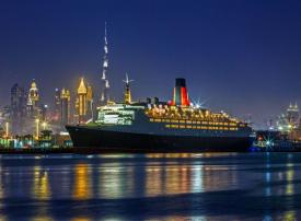 بالصور: افتتاح مبدئي لسفينة ذا كوين إليزابيث 2 الأربعاء القادم بدبي