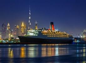 """بالصور: افتتاح لسفينة """"ذا كوين إليزابيث 2"""" الأربعاء القادم في دبي"""