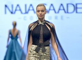 """نجا سعادة في """"أسبوع الموضة العربي"""" من العاصمة السعودية"""