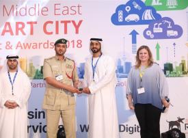 شرطة دبي تفوز بجائزة المدن الذكية