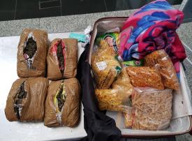 إحباط تهريب 30 كيلوا جراماً من المخدرات عبر مطار الشارقة