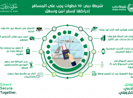 شرطة دبي: 10 خطوات على المسافر إدراكها قبل السفر
