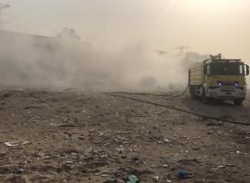 بالفيديو...حريق كبير في المنطقة الصناعية بعجمان