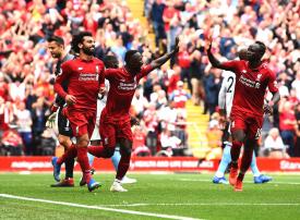 محمد صلاح يسجل أول هدف له في الدوري الإنجليزي