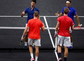 بالصور : أوروبا تهيمن على كأس لايفر في التنس