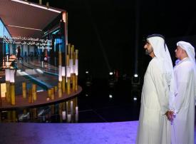 محمد بن راشد يطلع على سير العمل في محطات مسار 2020 لمترو دبي