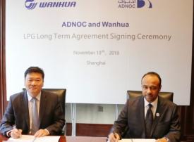 أدنوك توقع اتفاقية طويلة الأجل مع وانهوا الصينية للصناعات الكيميائية
