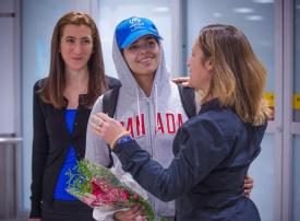 الفتاة السعودية رهف القنون تصل إلى كندا