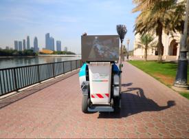 بالصور.. آلات ذاتية القيادة لتنظيف الشوارع في الشارقة