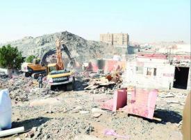 فيديو: السلطات السعودية تبدأ بإزالة عقارات في حي النكاسة المكي