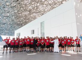 شعلة الأمل للأولمبياد الخاص تمرّ باللوفر أبوظبي