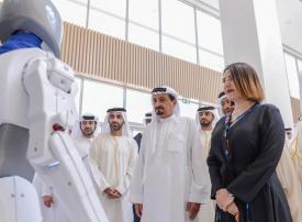 الشيخ حميد بن راشد النعيمي يفتتح المستشفى السعودي الألماني في عجمان