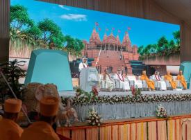وضع حجر الأساس لأول معبد هندوسي في أبوظبي