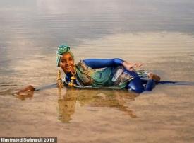 أول مسلمة بالبوركيني على غلاف مجلة لأزياء البكيني