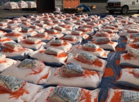 جمارك دبي تضبط 5.715 مليون حبة كبتاغون في شحنة عدس أحمر