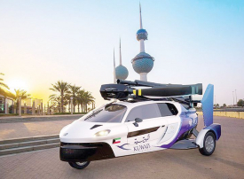 الخطوط الكويتية توقع عقداً للسيارات الطائرة
