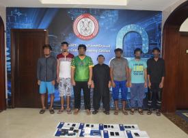 شرطة أبوظبي تضبط 3 عصابات آسيوية للاحتيال الهاتفي