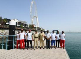 لتأمين الإنقاذ البحري.. شرطة دبي تتفقد تجهيزات نقطة تمركز «عين دبي»