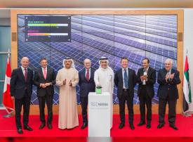 افتتاح أكبر محطة خاصة للطاقة الشمسية في دبي