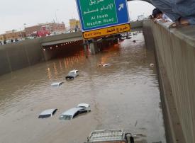 منطقة سعودية تقيم بوابات تحكم إلكترونية للأنفاق لمواجهة الأمطار