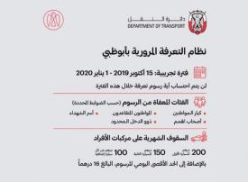 بوابات التعرفة المرورية في أبوظبي مجانية حتى يناير 2020