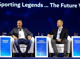 زيدان في مؤتمر دبي الرياضي وحديث عن أهمية الذكاء الاصطناعي رياضياً