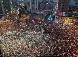 آلاف اللبنانيين من مناطق مختلفة يتظاهرون في طرابلس