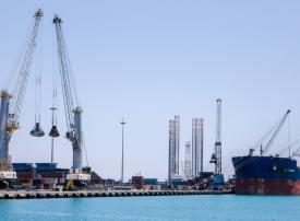 مواد بناء العاصمة الإدارية بمصر تمر عبر موانئ دبي العالمية - السخنة