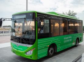 تسيير أول حافلة كهربائية للنقل بين المدن بالشارقة