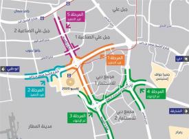 طرق دبي تفتتح غدا المرحلة السادسة من مشروع الطرق المؤدية لإكسبو