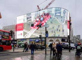أبوظبي تحطم الرقم القياسي لأكبر شاشة عرض بتقنية الواقع المدمج