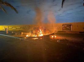 مقتل قاسم سليماني وأبو مهدي المهندس بقصف صاروخي على مطار بغداد