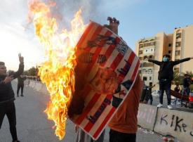 بالصور : الأضرار التي لحقت بالسفارة الأمريكية في بغداد