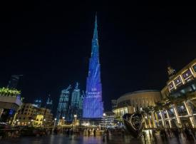 بالصور : احتفالات برج خليفة بعشر سنوات على افتتاحه