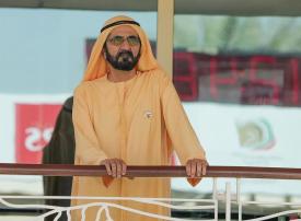 محمد بن راشد يشهد تتويج العويسي بمهرجان القدرة