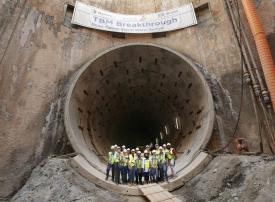 دبي: 75 % إنجاز مشروع النفق العميق لتصريف مياه الأمطار