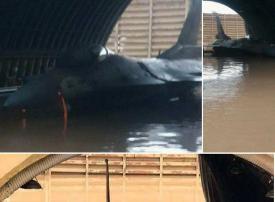 سخرية من غرق مقاتلات لجيش الاحتلال الاسرائيلي في سيول الأمطار