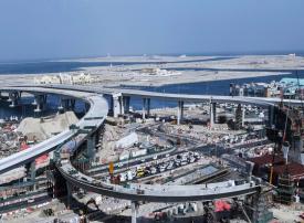 إنجاز 75% من مشروع الجسور المؤدية لمداخل جزر ديرة بدبي