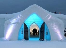 بالصور : فندق مصنوع بالكامل من الجليد في كندا