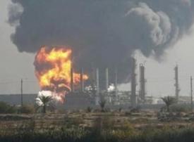 اندلاع حريق بمصفاة حمص إثر انفجار ضاغط غاز
