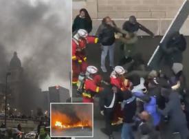 فيديو، حريق في محطة ليون بباريس