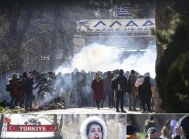 شاهد مسير أفواج اللاجئين على الحدود التركية