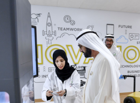 محمد بن راشد يدشن مركز البحوث والتطوير التابع لـ«كهرباء ومياه دبي»
