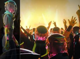 دار أزياء تعرض ما يشبه بدلات فضائية للتصدي لفيروس كورونا وموجة إلغاء الحفلات بسببه