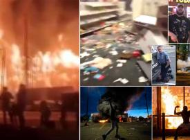 شاهد بالصور، أعمال نهب وسلب ومقتل شخص مع تواصل الاحتجاجات بعد قتل الشرطة لرجل